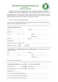 Antrag auf Mitgliedschaft in der SG HTB